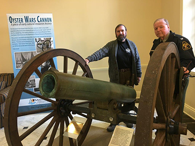 Historic Oyster Wars Cannon in House Office Building