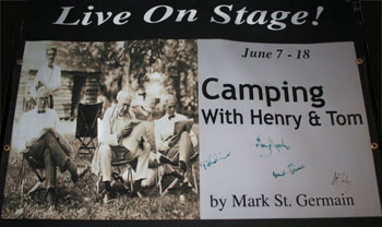 """Camping with Henry and Tom"" Playbill"