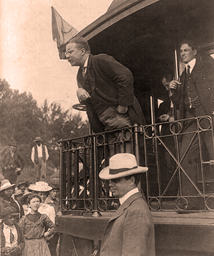 Roosevelt on Whistle Stop tour in 1900
