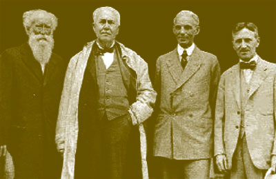 Burroughs, Edison, Ford and Firestone