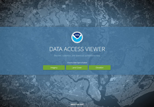 NOAA Digital Coast map