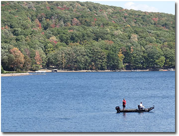 Fishing on the Deep Creek Lake