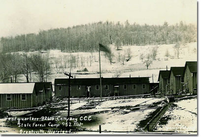 New German CCC Camp  S-52, Headquarters & Barracks, 1936