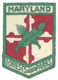 Left shoulder emblem of the Forest and Park Service (1941 - 1963)