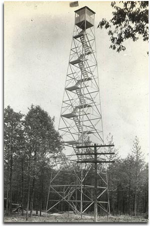 One of the fire towers built by The Aeromotor Company of Broken Arrow, Oklahoma. They built nearly all of Maryland's fire towers