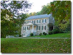 A picture of the Carter-Archer mansion in the Rock Run area of Susquehanna State Park.