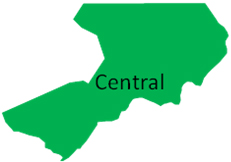 Inland Central Region Map