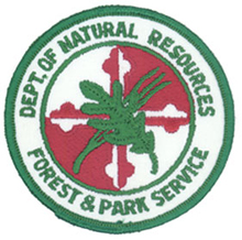 Another variation of the left shoulder emblem of the combined Forest & Park Service (1978-1984)
