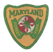 Hat patch, contemporary with the left shoulder emblem of the combined Forest & Park Service (1978-1984)
