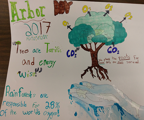 1st Place Arborday Poster Contest in Carroll County: Avery Selivan