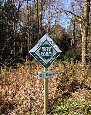 Certified Tree Farm Sign