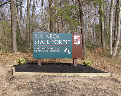 Elk Neck State Forest Entrance Sign