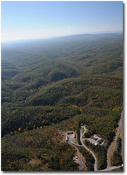 Aerial view of Green Ridge State Forest