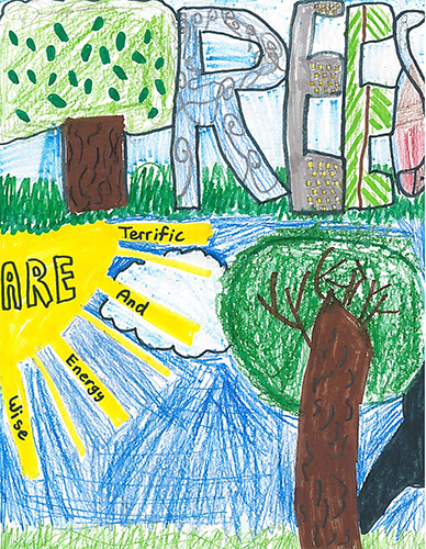 1st Place Arbor Day Poster Contest in Harford County: Amanda Poling