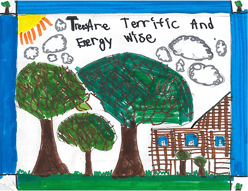 2017 Arbor Day Poster Contest 1st Place in Kent County: Sylas Merrell