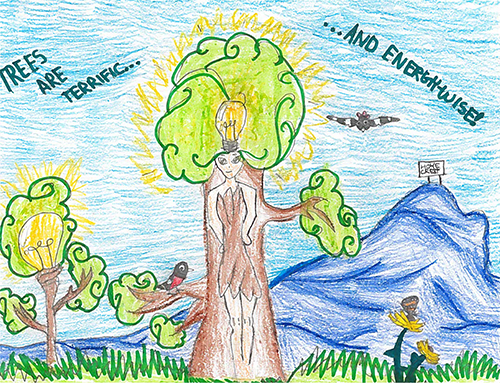 2017 1st Place Arbor Day Poster Contest in Montgomery County: Riona Sheikh