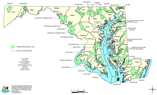 Maryland Rural Legacy Arrea Map