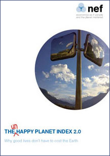 Cover of the Un-Happy planet index 2.0 report