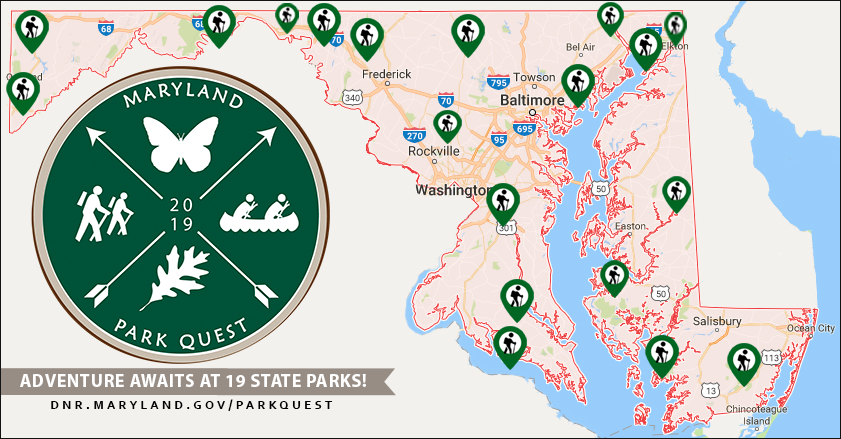 Park Quest Locations Map for 2019