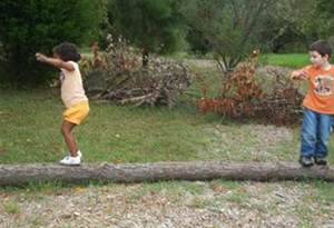 Log Balance Beam at Friend Forever Learning Center