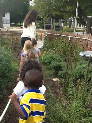 Walking Through the Garden at the Key School