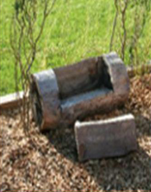 Tree Stump Bench at Brown Memorial Weekday School
