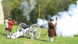 Civil War reenactment at Fort Frederick