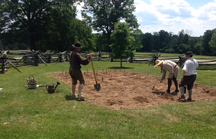 Colonial gardening at Fort Frederick