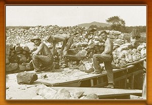 Civilian Conservation Corps re-building Fort Frederick