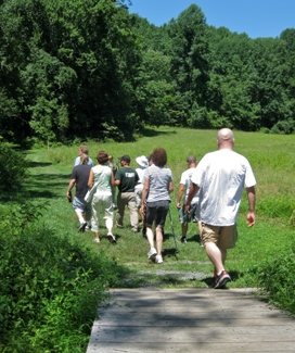 A nature hike at Gunpowder Falls State Park