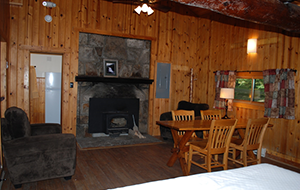 Interior of cabin #9 at Herrington Manor State Park