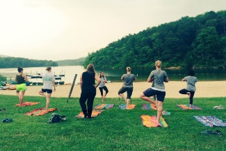 Healthy Parks, Healthy People yoga class