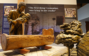 Interior exhibit at the Harriet Tubman Underground Railroad State Park