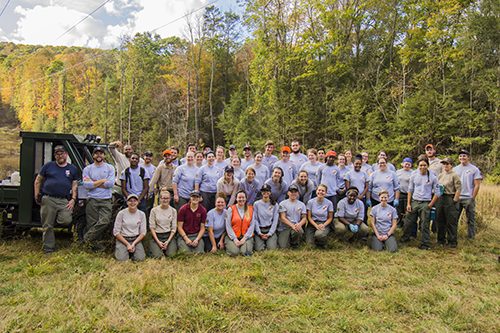 Maryland Conservation Corps 2017 Fall Project at New GermanyState Park