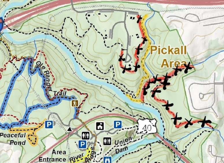 Pickall Area Map - Construction Alert