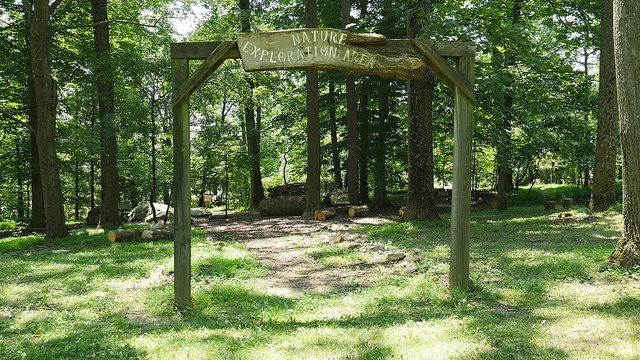 Entrance to Nature Exploration Center in Rocks State Park by Nathan Simms
