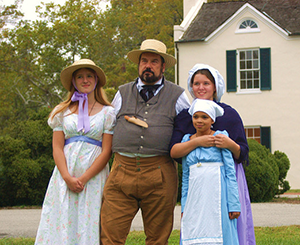 Reenactors at Rosaryville State Park