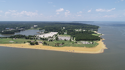 Aerial View of Sandy Point State Park