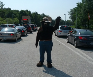Smokey Bear at Sandy Point