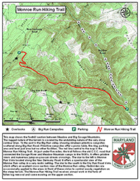 Small photo of the Monroe Run Trail  Map