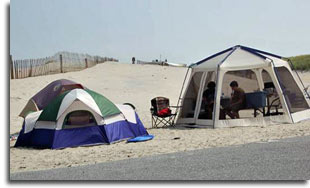 Campers at Assateague State Park