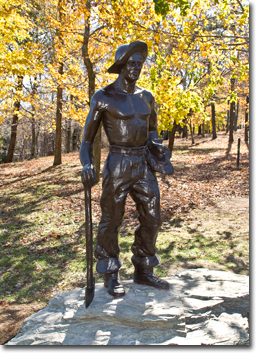 The new CCC statue at Gambrill State Park