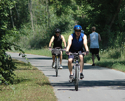 Bicykcling and Running on the Western Maryland Rail Trail