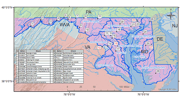 River Input Monitoring Station Locations