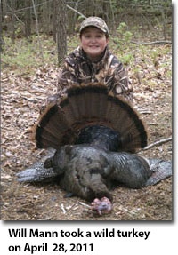 Will Mann took a Wild Turkey on April 28, 2011.