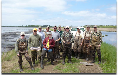 Volunteers at Deal Islland WMA Impoundment Restoration