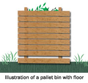 Illustration of a pallet bin with floor