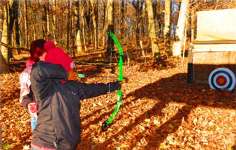 Archery training during a Hunting & Shooting Sports Outreach Program
