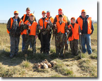 Mentored Youth Hunt Group Photo at Pintail Point