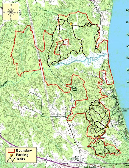 Map of DNR Map of Parkers Creek Natural Area